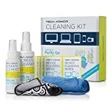 Tech Armor 120 ML Pro Cleaning Kit with ExtraMove Formula and Pre-Moistened Cleansing Screen Wipes