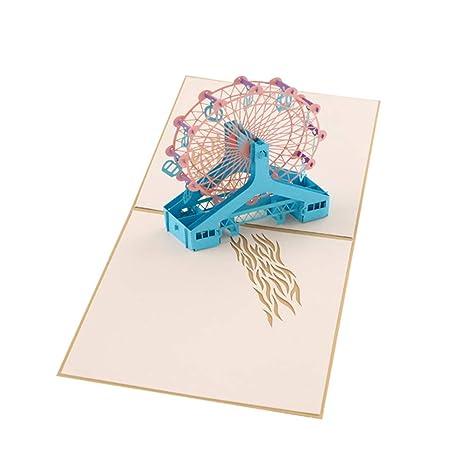 Bontand 3D Pop Up Tarjetas De San Valentín del Amante De ...