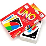 57×87MM 108 UNO Playing Cards Game For Family Friend Travel Party Instruction Fun Toy,Gbell (Multicolor)
