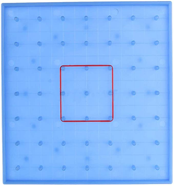 Fantasyworld Clavo de pl/ástico Placa Primaria Matem/áticas Tabla de Clavos Juego de Puzzle de Herramientas Geometr/ía Juguete de Aprendizaje Educativo para ni/ños