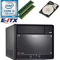 Shuttle SH110R4 Intel Core i3-7100 (Kaby Lake) XPC Cube System , 32GB Dual Channel DDR4, 2TB HDD, DVD RW, WiFi, Bluetooth, Pre-Assembled and Tested by E-ITX