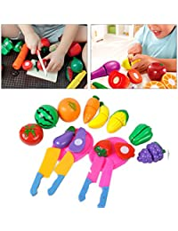 Get 2 Set Funny Kitchen Food Vegetable Play Toy Cutting Fruit + Vegetable For Child discount