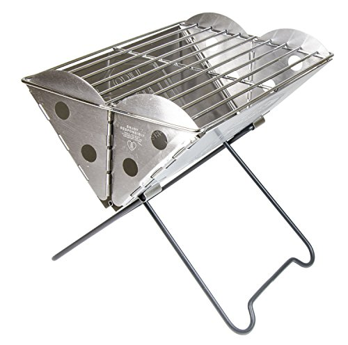 UCO Flatpack Mini Portable Stainless Steel Grill and Fire Pit ()