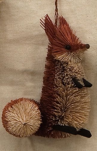 Christmas Tablescape Decor - Small Buri Brush Fox Ornament by Brushart