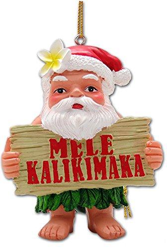 KC Hawaii Mele Kalikimaka Santa Ornament 2.25