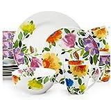 Gourmet Basics by Mikasa Provence Garden 16-Piece Dinnerware Set, Service for 4