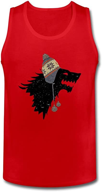 dyh5l1q de hombre lobo gorro de Wear camiseta de tirantes 100% algodón: Amazon.es: Ropa y accesorios