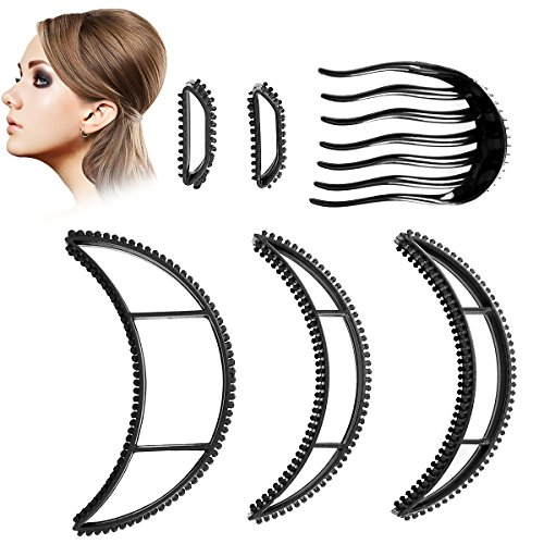 ETEREAUTY Big Bumpits happie Hair for Ponytail Bouffant Hairstyles and Volumizing, 6 pieces