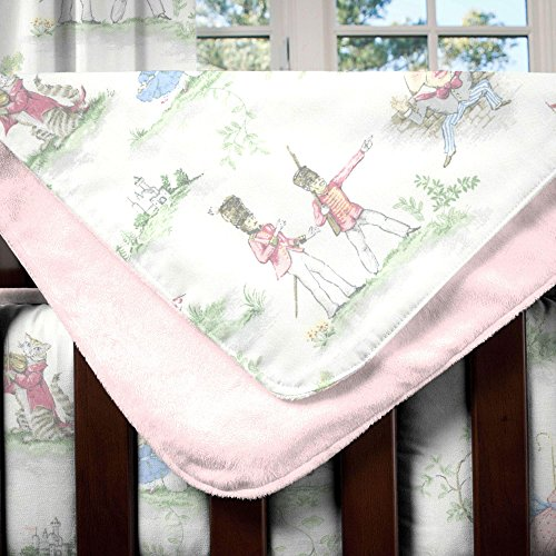 Carousel Designs Pink Over The Moon Toile Crib ()