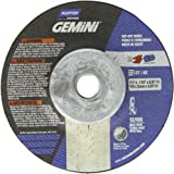 "Norton Gemini Depressed Center Abrasive Wheel, Type 27, Aluminium Oxide, 5/8""-11 Hub, 4-1/2"""