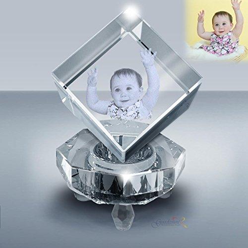 Custom Photo Crystal Jewel Cube Gift Set, ()