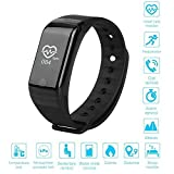ESTAR Smart Wristband Heart Rate Monitor with OLED Display Smart Bracelet Heart Rate Monitor Smartband Sport Pedometer Wristband Watch Fitness Tracker