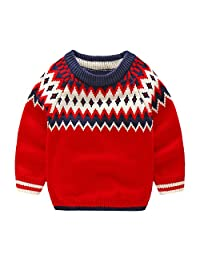 Mud Kingdom Little Boys Classic Argyle Knitted Crewneck Pullover Sweater Christmas