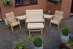 Sillas de madera, apto para uso exterior de–Madera maciza muebles de jardín al aire libre Patio