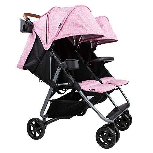 The Twin+ Luxe (Zoe XL2) – Best Double Stroller – Everyday Twin Stroller with Umbrella – UPF 50+ – Tandem Capable