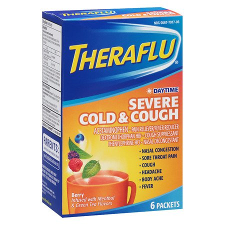 Theraflu Daytime Severe Cold & Cough, 6 Packets (Pack of 1)