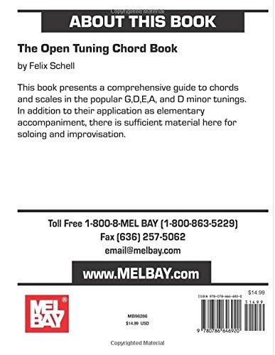 Mel Bay The Open Tunings Chord Book Felix Schell 0796279061292