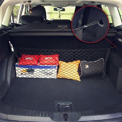 DEDC Rear Cargo Net 65x23 inch Adjustable Pickup Trunk Cargo Net Hook Set Pickup Trunk Bed Jeep SUV Trailer Van Pickup Storage 4333199318