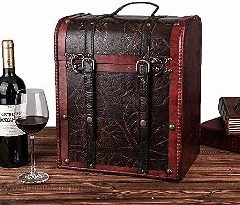 Juego De Cajas De Vino / 6 Botellas Caja De Presentación De Vinos ...