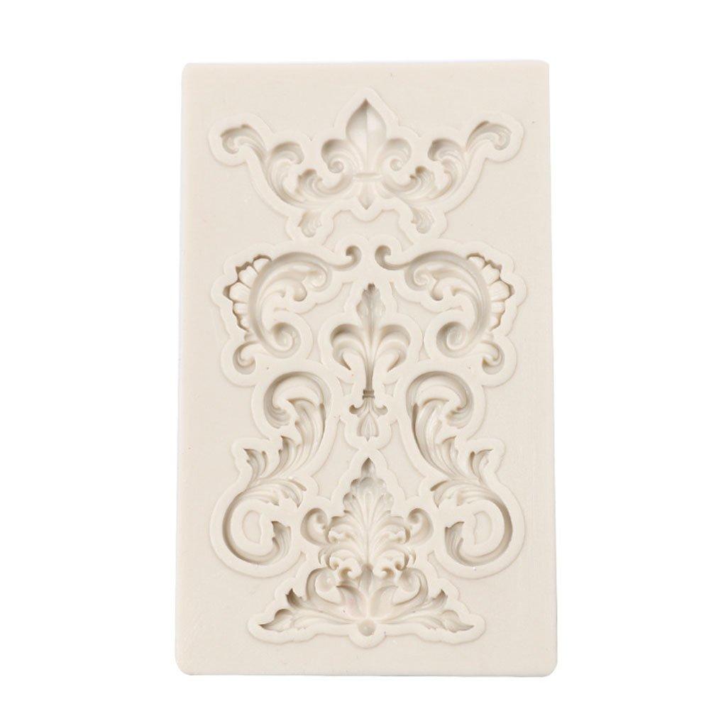 Cosanter 1 x Molde de silicona Textura de la flor Fondant y á ngel Candy para tartas para horno molde para decoració n de pasteles 9.1 * 6 * 0.7 cm
