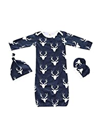 Summer Baby Gown SleepSack 3pcs Wearable Blanket Navy Sleeping Bag Sleeper