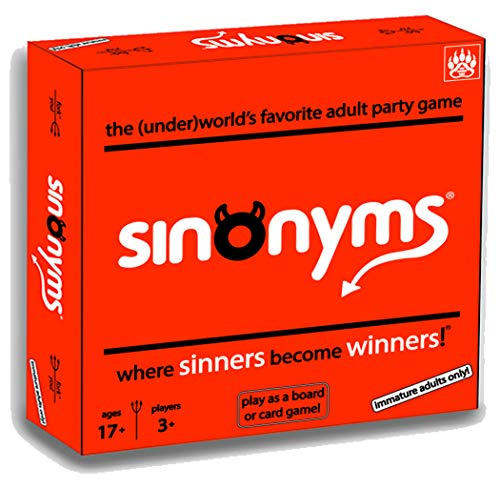 Sinonyms - Best New Adult Party Board Game/Card Game - Raunchy Rowdy & Rapid-Fire Fun (Best New Board Games For Adults)