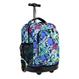 J World New York Kids' Sunny Rolling Backpack, Savanna, One Size