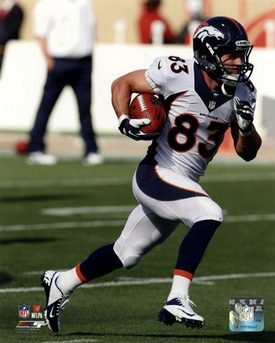 Wes Welker Running Football - Art Print Poster