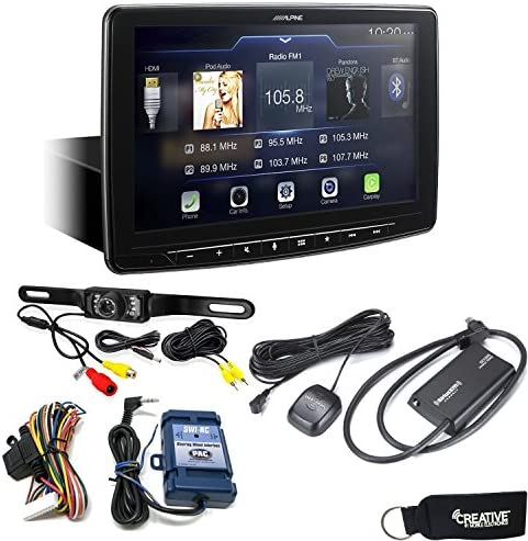 Alpine iLX-F309 HALO9 Receiver w 9-inch Touch Screen, Single-DIN Mounting, Includes SWI-RC, SiriusXM Tuner Backup Cam