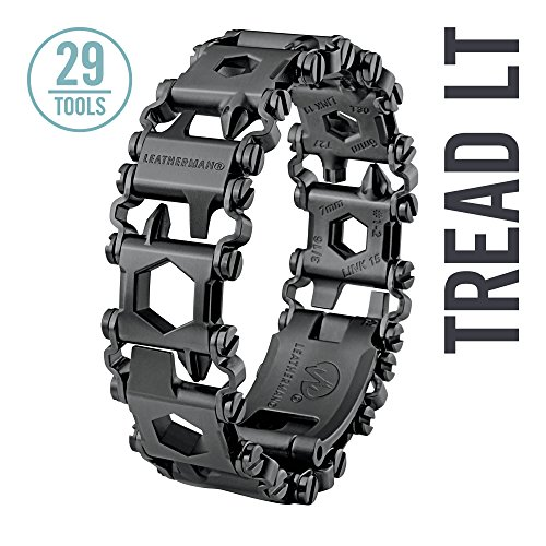 Leatherman - Tread LT Bracelet, The Smaller Travel Friendly Wearable Multitool, Black