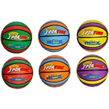 Sportime SportimeMax Star Basketballs - Junior Size - 27.5 Inch - Set of 6 Colors