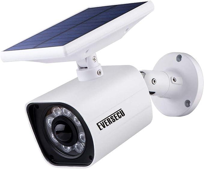 77 LED Fake Security Camera Light Solar Monitor Sensor Wall Lamp Outdoor Home
