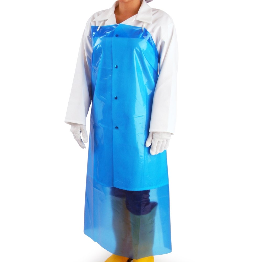UltraSource 450025 VR Aprons, 6 mil, 35'' x 45'', Blue (Pack of 100)