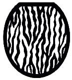 black cushion toilet seat Toilet Tattoos, Toilet Seat  Cover Decal,Black and White Zebra, Size Round/standard