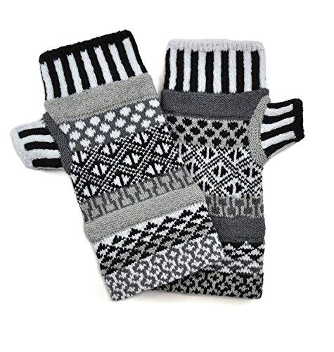 Solmate Socks, Mismatched Fingerless Gloves for Men or Women, USA Made, Midnight