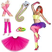 iLoveCos Womens 80s Costume accessories Fancy Outfit Dress For 1980s Theme Party Supplies, Adult Size