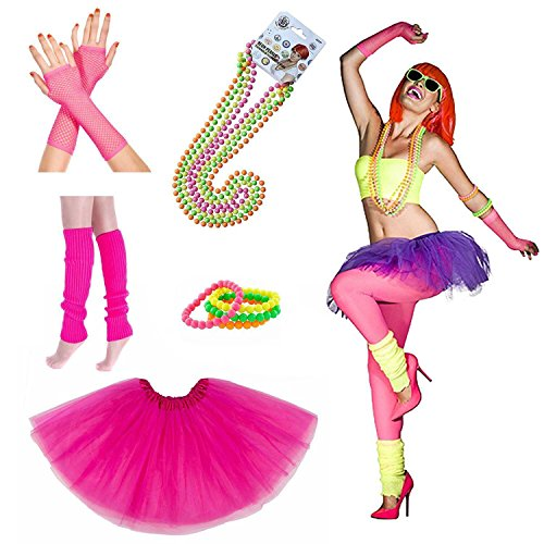 Costumes The 1980s (80s Fancy Outfit 1980s Costume Accessoies for Women (Multi)