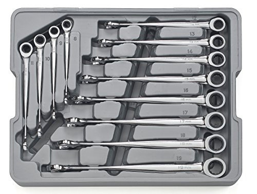 GearWrench 85888 12 Piece Set Metric X-Beam Combination Ratcheting Wrench ()