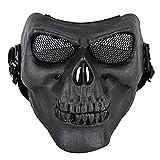 Coxeer M01 Army Skull Skeleton Airsoft Paintball Bb Gun Game Face Mask (Black 2)