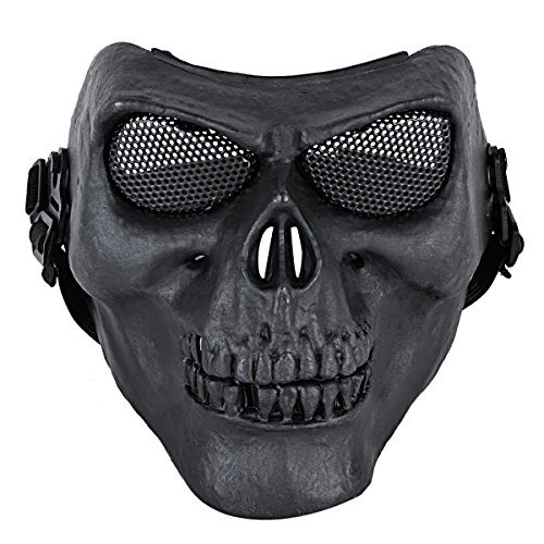 Coxeer M02 Deluxe Full Face Skull Mask Outdoor Hunting Cs War Game Mask Black