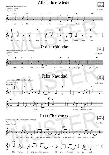 Noten Keyboard Weihnachtslieder Kostenlos.Merry Christmas Für Keyboard Notenbuch Die 45 Beliebtesten Und