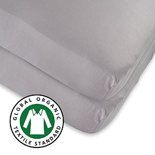 Best Price Organic crib sheet | Toddler Bed Sheet 2 Pack, 100% GOTS Certified Organic Jersey Cotton ...
