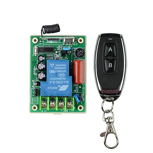 lejin Télécommande sans fil Interrupteur Commande à distance Interrupteur émetteur récepteur avec Télécommande AC 220V 30A Relais Haute Performance Métal moteur LED Pompe à eau inte