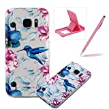 TPU Case for Samsung Galaxy S7 Edge,Clear Case for Samsung Galaxy S7 Edge,Herzzer Ultra Slim Stylish [Colorful Pattern] Soft Silicone Gel Bumper Cover Flexible Crystal Transparent Skin Protective Case