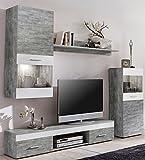 WILMES 70015-57 0 75 Wohnwand Holzwerkstoff, weiß, 33 x 210 x 160 cm