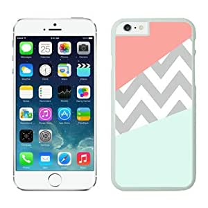 Iphone 6 Case 4.7 Inches, Cool Coral Mint Grey Chevron White Phone Protective Cover Case Mate for Apple Iphone 6 by supermalls