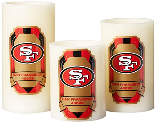 Nfl Candle - Duck House NFL San Francisco 49Ers LED Light Candle Gift Set (3 piece)