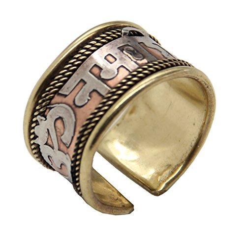 DharmaObjects Hindu OM NAMAH SHIVAYA Healing Copper Therapy Ring