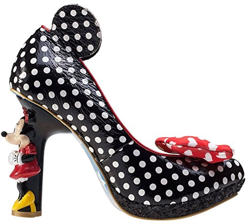 Irregular Choice Disney Oh My Schwarz Weib Damen Absatz Schuhe