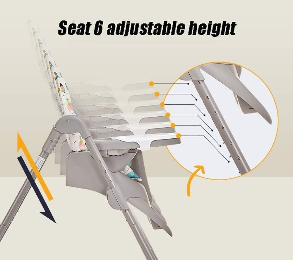 LAZ 高い椅子の高さ調節可能なベビー給餌ダイニングチェアは5ポイントハーネス&洗えるクッションとトレイと、ブースター給餌シートを折ります (色 : Style 1)